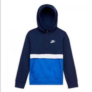 Big Boy's Nike Colorblock Half-Zip Hoodie, M NWT